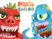 Redzilla vs Bluezorax
